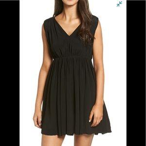 Madewell Magnolia Tie Back Dress Size L Black